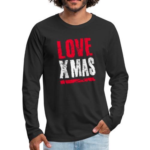 X Mas Love Christmas Weihnachten Geschenk - Männer Premium Langarmshirt