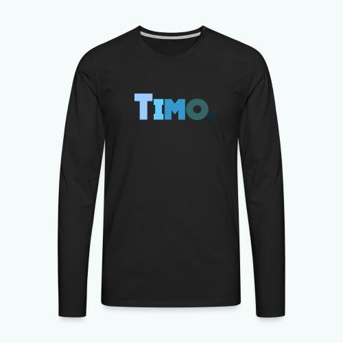 Timo in blauwe tinten - Mannen Premium shirt met lange mouwen