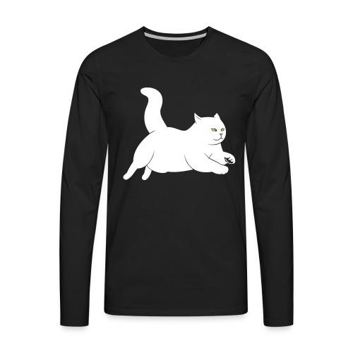 running cat - Männer Premium Langarmshirt