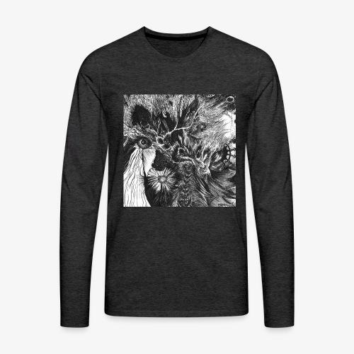 Enter the Linear Dream Square edition by Rivinoya - Miesten premium pitkähihainen t-paita