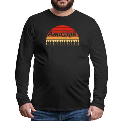 Vintage Amazigh Art Design - T-shirt manches longues Premium Homme