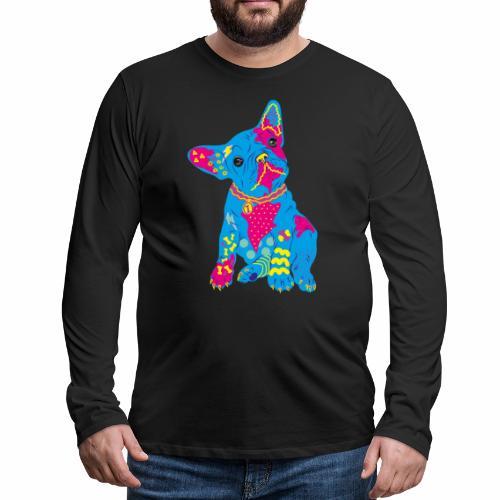 French bulldog from the 80s - Men's Premium Longsleeve Shirt