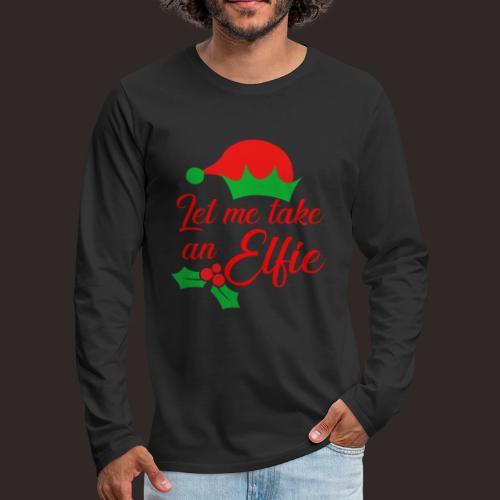 Weihnachten   Elf Mütze Weihnachtself Wortspiel - Männer Premium Langarmshirt