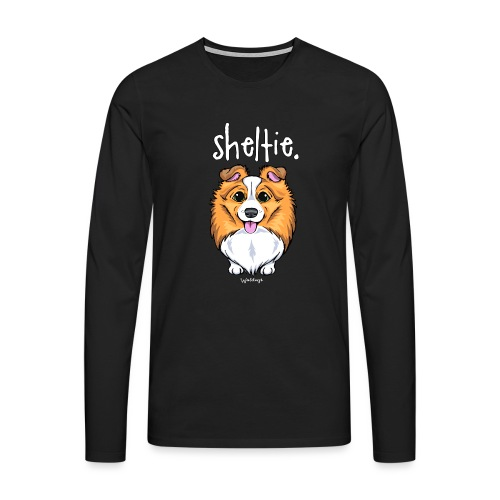 Sheltie Dog Cute 5 - Men's Premium Longsleeve Shirt