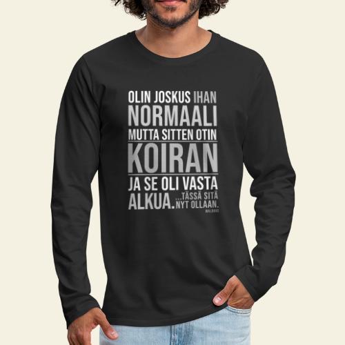 Vasta Alkua Koira III - Miesten premium pitkähihainen t-paita