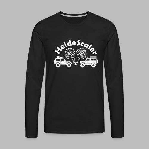 Heide Scaler white HQ - Männer Premium Langarmshirt