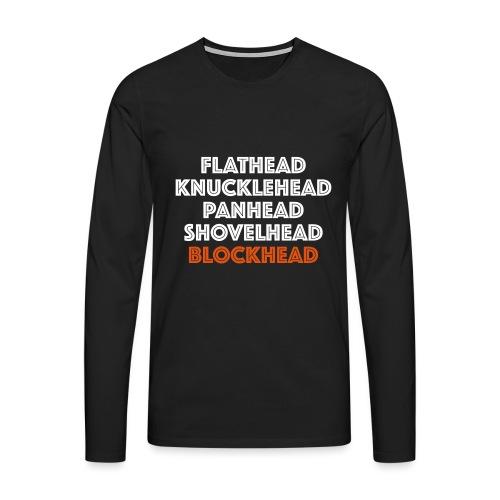 Blockhead 2C - Mannen Premium shirt met lange mouwen