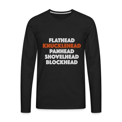 Knucklehead 2C - Mannen Premium shirt met lange mouwen