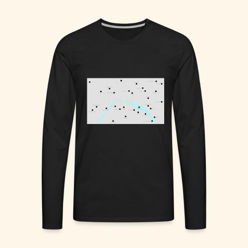 Paris - Maglietta Premium a manica lunga da uomo