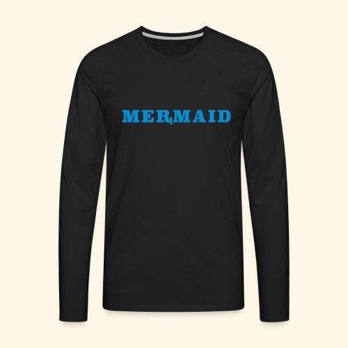 Mermaid logo - Långärmad premium-T-shirt herr
