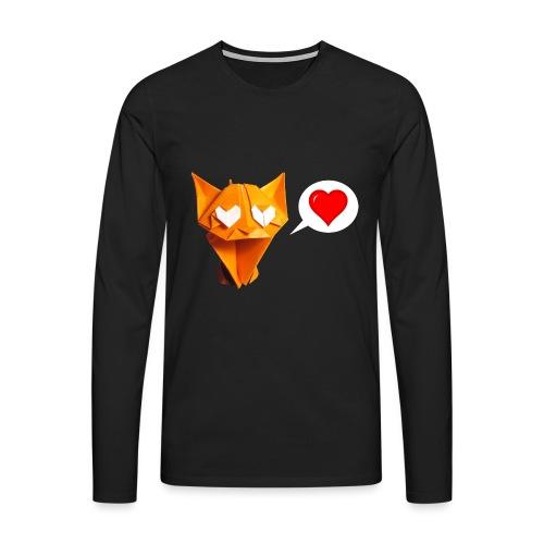 Adorable Cat Origami - Cat - Gato - Gatto - Katze - Men's Premium Longsleeve Shirt