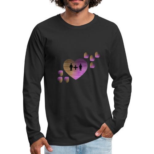 couple amoureux - T-shirt manches longues Premium Homme