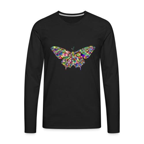 Geflogener Schmetterling - Männer Premium Langarmshirt