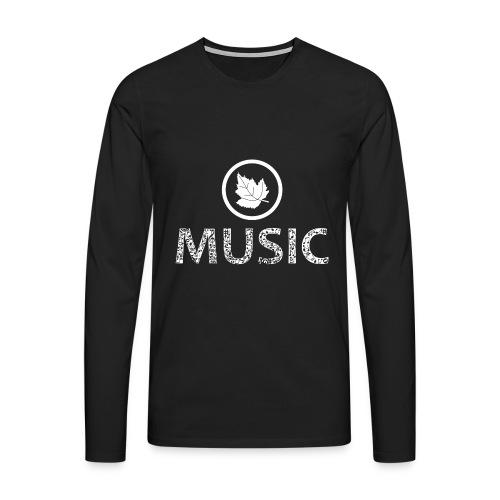 logo bashk music e bardhe - Men's Premium Longsleeve Shirt