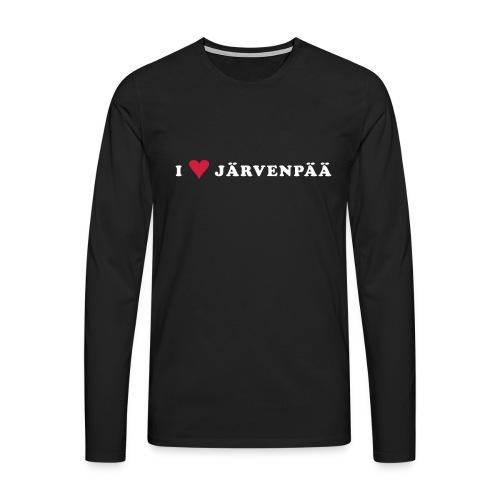 I LOVE JARVENPAA - Miesten premium pitkähihainen t-paita