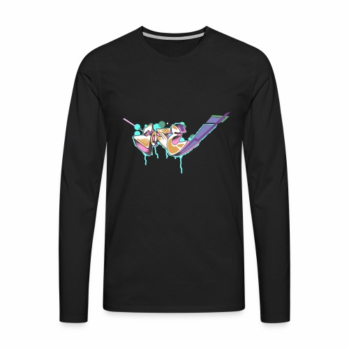 Grafitty - Camiseta de manga larga premium hombre