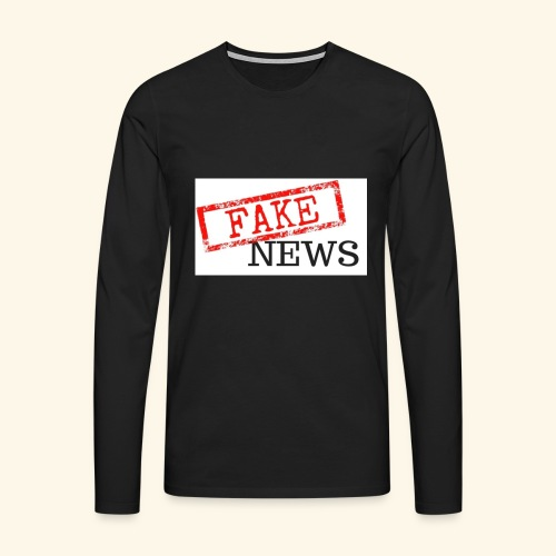 fake news - Men's Premium Longsleeve Shirt