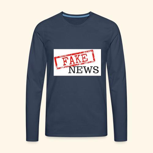 fake news - Men's Premium Longsleeve Shirt