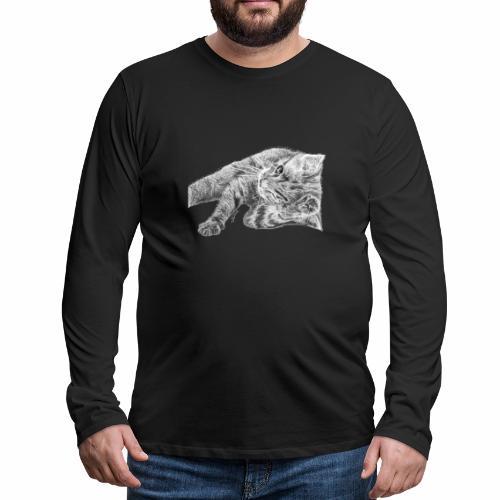 Petit chaton au crayon gris - T-shirt manches longues Premium Homme