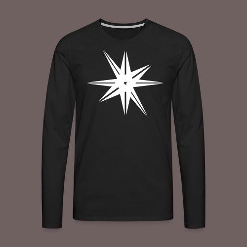 GBIGBO zjebeezjeboo - Rock - Octa Star Blanc - T-shirt manches longues Premium Homme