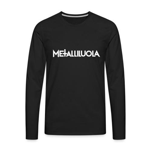 Metalliluola logo - Miesten premium pitkähihainen t-paita
