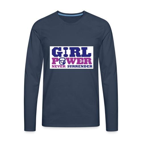 GIRL POWER NEVER surrender 01 - Camiseta de manga larga premium hombre