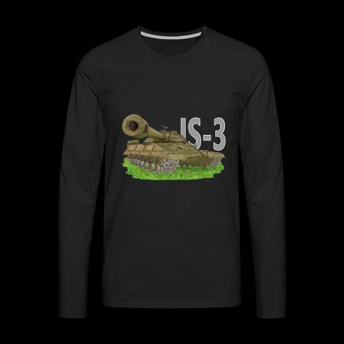 IS-3 (Writing) - Maglietta Premium a manica lunga da uomo