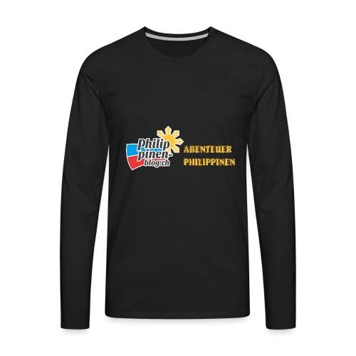 Philippinen-Blog Logo deutsch schwarz/orange - Männer Premium Langarmshirt