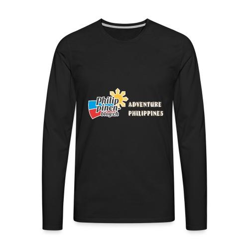 Philippinen-Blog Logo english orange/weiss - Männer Premium Langarmshirt