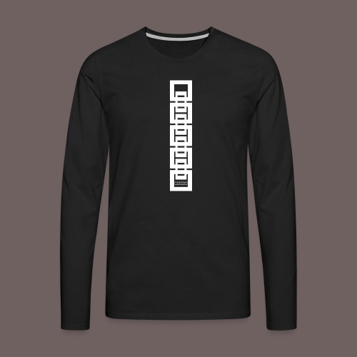 GBIGBO zjebeezjeboo - Rock - Squares 02 - T-shirt manches longues Premium Homme