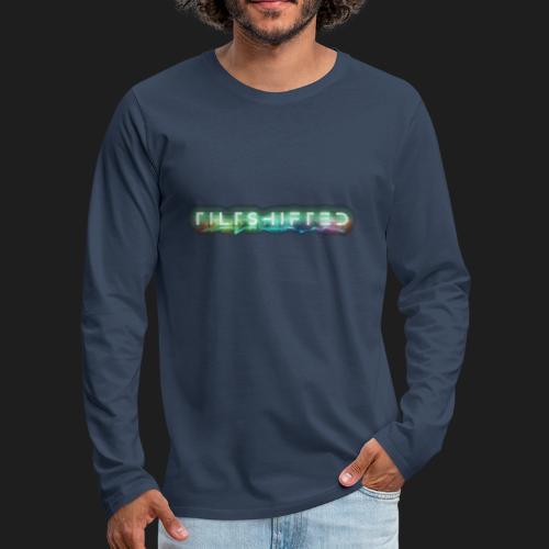 TiltShifted Logo on Black - Miesten premium pitkähihainen t-paita