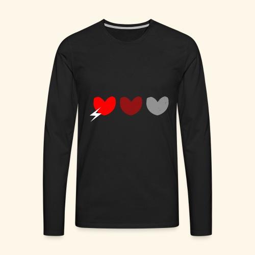 3hrts - Herre premium T-shirt med lange ærmer