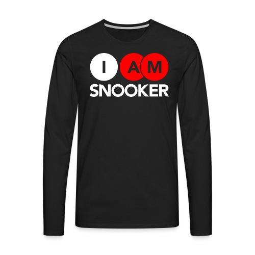 I AM SNOOKER - Men's Premium Longsleeve Shirt