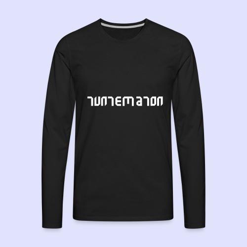 Teippilogo - Miesten premium pitkähihainen t-paita