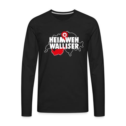 HEIMWEH WALLISER - Männer Premium Langarmshirt
