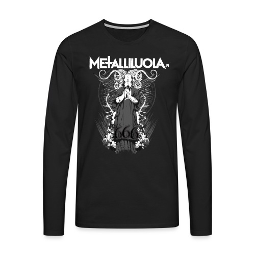 Metalliluola logo ja Demoniac 666 - Miesten premium pitkähihainen t-paita