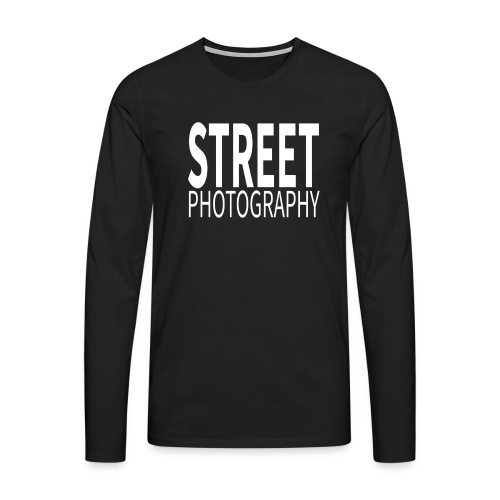 Street Photography T Shirt - Maglietta Premium a manica lunga da uomo
