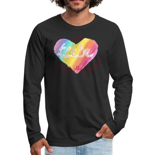 Mit Liebe geht alles leichter - Männer Premium Langarmshirt