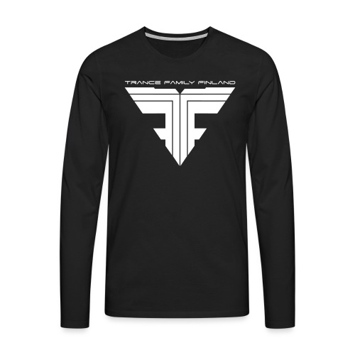 TFF Logo White - Miesten premium pitkähihainen t-paita