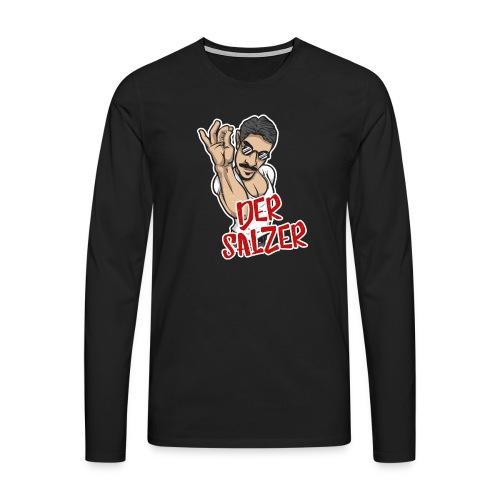 Der Salzer | Grillmeister Tshirt - Männer Premium Langarmshirt