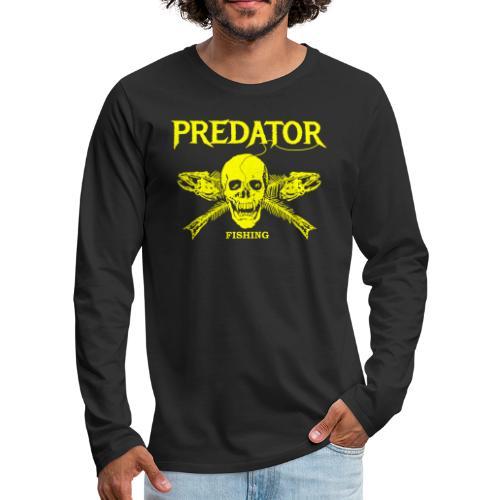 Predator fishing yellow - Männer Premium Langarmshirt