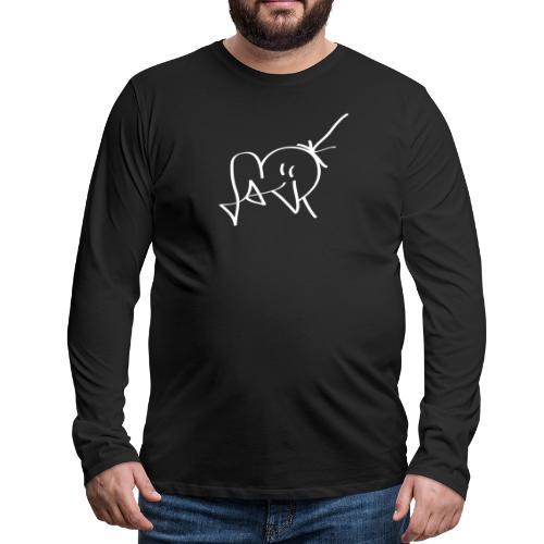 Jackjohannes Hemp signatuur 'Jack' wit - Mannen Premium shirt met lange mouwen