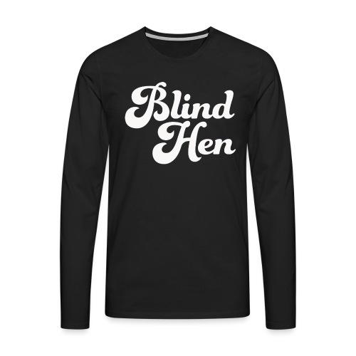 Blind Hen - Logo Lady fit premium, black - Men's Premium Longsleeve Shirt