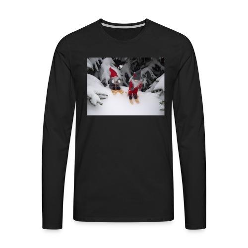 Joulutontut kilpasilla - Miesten premium pitkähihainen t-paita