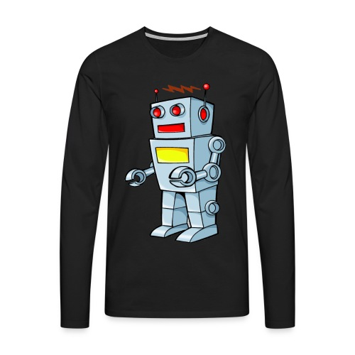 Robot - Maglietta Premium a manica lunga da uomo