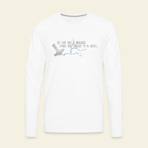 mjlner - Herre premium T-shirt med lange ærmer