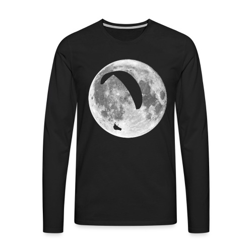 Paragleiter im Mond - Männer Premium Langarmshirt
