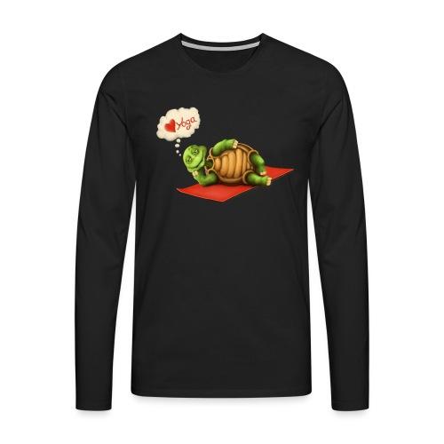 Love-Yoga Turtle - Männer Premium Langarmshirt