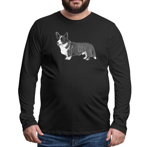welsh Corgi Cardigan - Herre premium T-shirt med lange ærmer