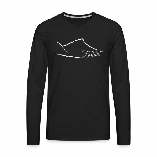 Hvit rektangulær logo - Premium langermet T-skjorte for menn